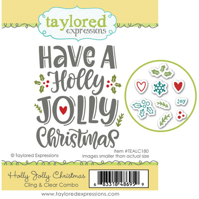 Cling & Clear Stamp Combo, Holly Jolly Christmas