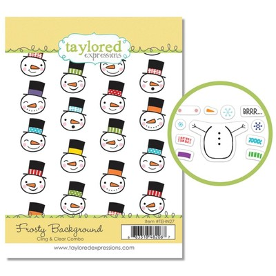 Cling & Clear Stamp Combo, Frosty Background