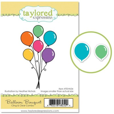 Cling & Clear Stamp Combo, Balloon Bouquet