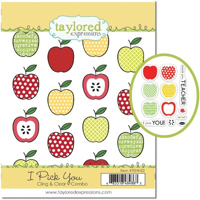 Cling & Clear Stamp Combo, I Pick You
