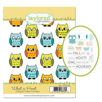 Cling & Clear Stamp Combo, What a Hoot