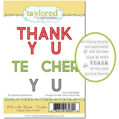Cling & Clear Stamp Combo, Fill in the Blank - Teacher