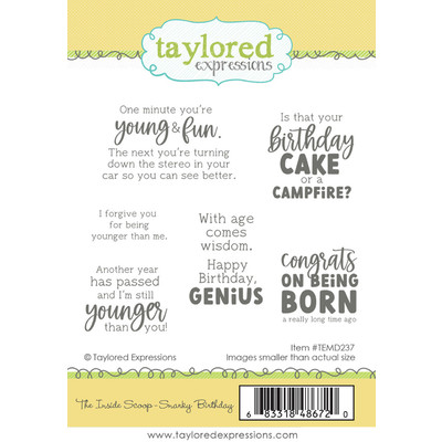 Cling Stamp, The Inside Scoop - Snarky Birthday