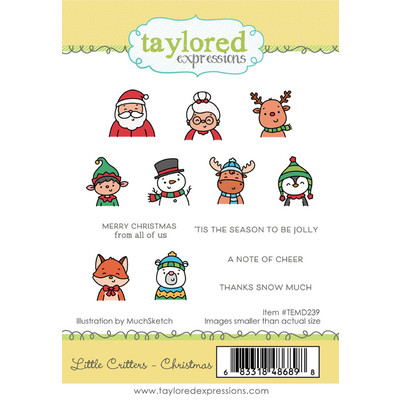 Cling Stamp, Little Critters - Christmas