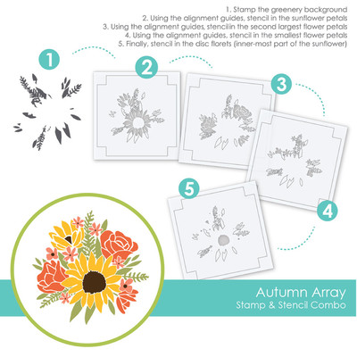 Stamp & Stencil Combo, Autumn Array