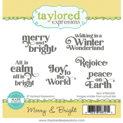 Cling Stamp, Merry & Bright