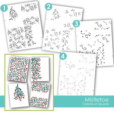 Layering Stencil, Create-in-Quads - Mistletoe