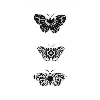 4X9 Slimline Stencil, Monarch Trio