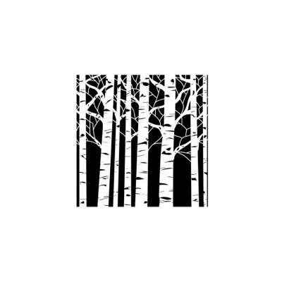 Stencil, 6X6, Aspen Trees