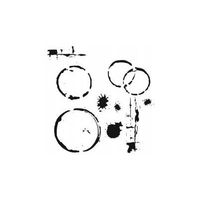 6X6 Stencil, Coffee Splotch