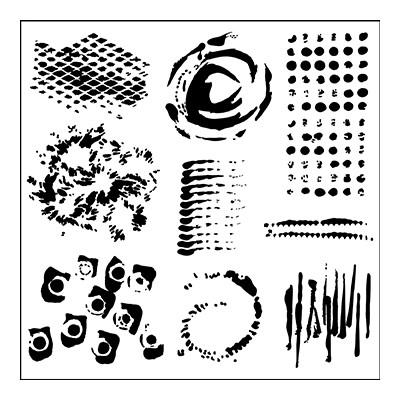 6X6 Stencil, Impressions