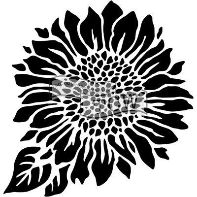 6X6 Stencil, Joyful Sunflower
