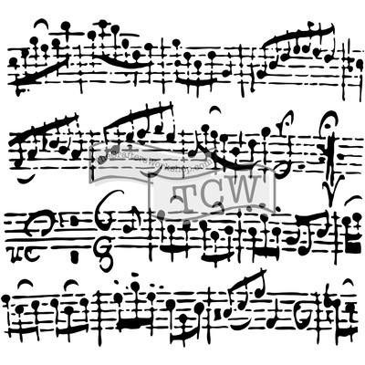 6X6 Stencil, Sheet Music