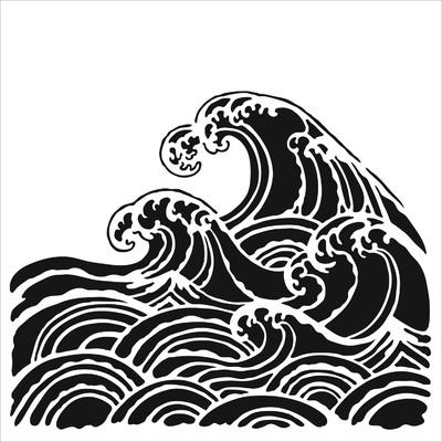 6X6 Stencil, Wave