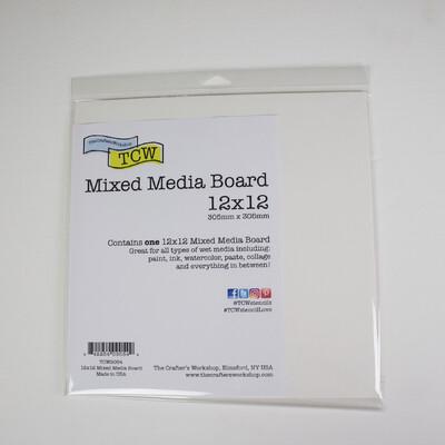Mixed Media Board, 12x12