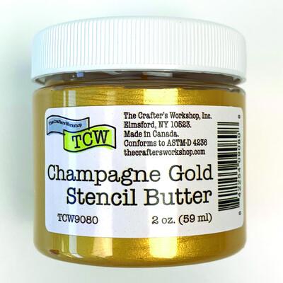 Stencil Butter, Champagne Gold (2oz)