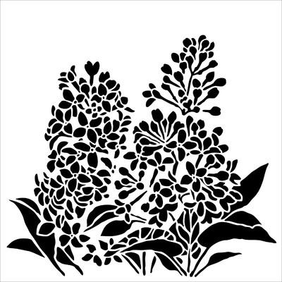 6x6 Stencil, Lilacs