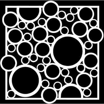 6x6 Stencil, Bubble Rebound