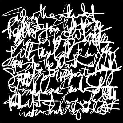 6X6 Stencil, Messy Writing