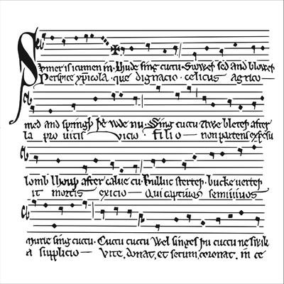 6X6 Stencil, Medieval Music