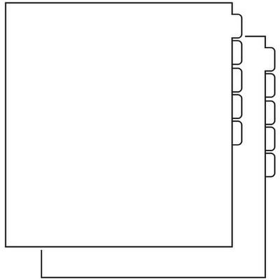 Paper Storage Box Dividers (10 Pack)