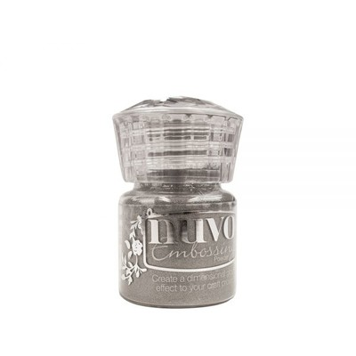 Nuvo Embossing Powder, Classic Silver