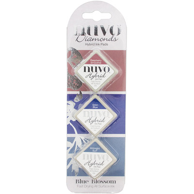 Nuvo Diamond Hybrid Ink Pad Pack, Blue Blossom
