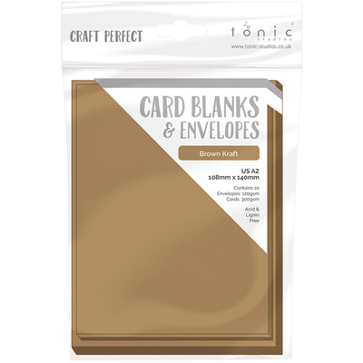 A2 Card Blanks, Kraft Card