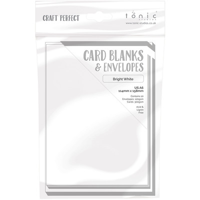 A6 Card Blanks, Bright White
