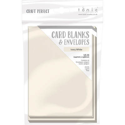 A6 Card Blanks, Ivory White