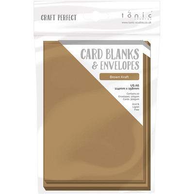 A6 Card Blanks, Kraft Card