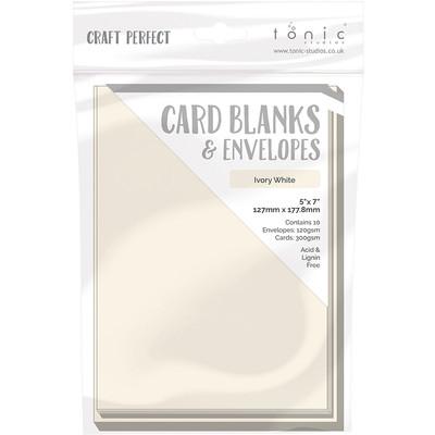 5X7 Card Blanks, Ivory White