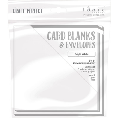 6X6 Card Blanks, Bright White