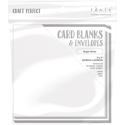 7X7 Card Blanks, Bright White