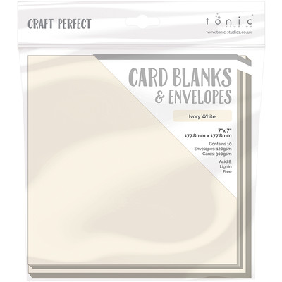 7X7 Card Blanks, Ivory White