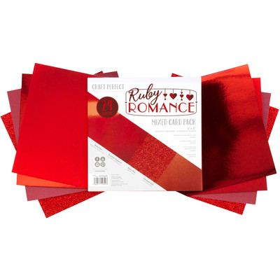 6X6 Mixed Cardstock Pack, Ruby Romance