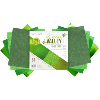 6X6 Mixed Cardstock Pack, Green Valley