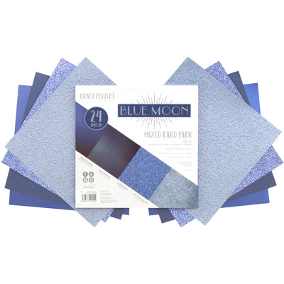 6X6 Mixed Cardstock Pack, Blue Moon