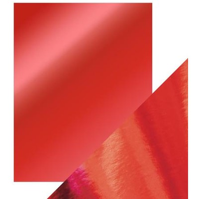8.5X11 Mirror Cardstock, Gloss - Ruby Red (5/Pk)