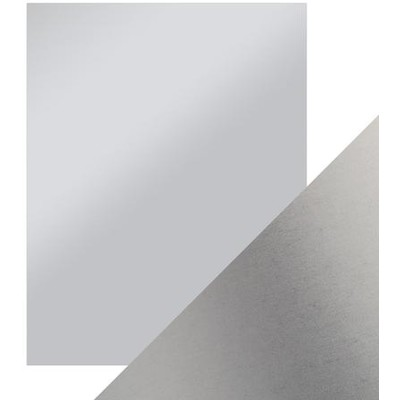 8.5X11 Mirror Cardstock, Satin - Frosted Silver (5/Pk)
