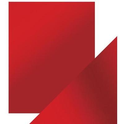 8.5X11 Mirror Cardstock, Satin - Scarlet Organza (5/Pk)