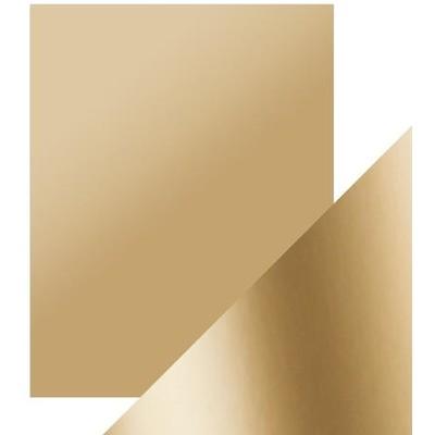 8.5X11 Mirror Cardstock, Satin - Honey Gold (5/Pk)