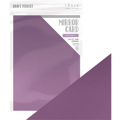 8.5X11 Mirror Cardstock, Satin Effect - Soft Amethyst