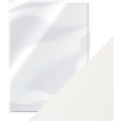 8.5X11 Pearlescent Cardstock, Pearl White (5/Pk)
