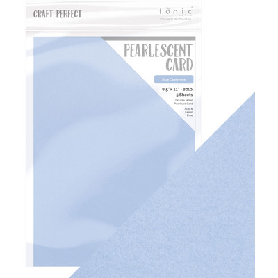 8.5X11 Pearlescent Cardstock, Blue Cashmere