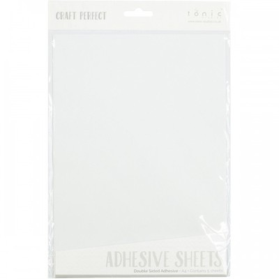 Craft Perfect Adhesives, A4 Double Sided Adhesive Sheets (5/Pk)