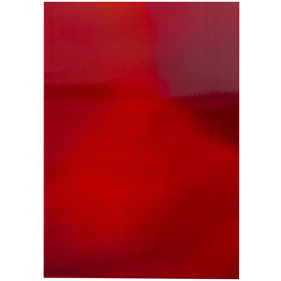 8.5X11 Mirror Cardstock, Iridescent - Fire Stone Red