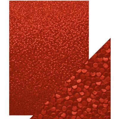 A4 Luxury Embossed Cardstock, Red Berries (5/Pk)