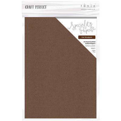 A4 Embossed Cotton Paper, Oak Woodgrain (5/pk)