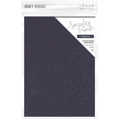 A4 Embossed Cotton Paper, Midnight Sky (5/pk)